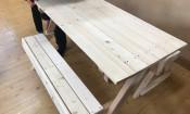 테이블 변신 의자